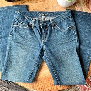 BEBE Denim Booty hugging Jeans Rhinestones